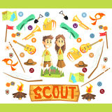 Children Scouts Illustration Stock Photo