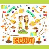 Children Scouts Illustration Stock Photo