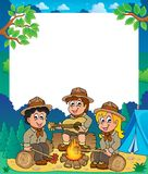 Children scouts thematic frame 1. Eps10 vector illustration Royalty Free Stock Photography