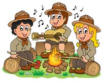Children scouts theme image 1. Eps10 vector illustration Royalty Free Stock Photography