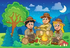 Children scouts theme image 2. Eps10 vector illustration Royalty Free Stock Images