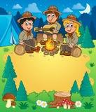 Children scouts theme image 3. Eps10 vector illustration Stock Photos