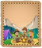 Children scouts theme parchment 2. Eps10 vector illustration Royalty Free Stock Photos