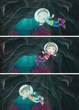Children scuba diving under the sea Stock Image