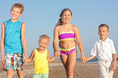 Children and the sea. Stock Photos
