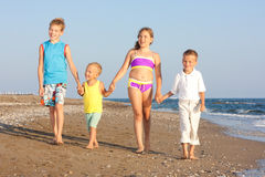Children and the sea. Royalty Free Stock Images