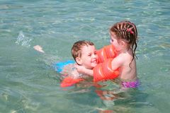 Children in sea Royalty Free Stock Image