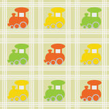 Children seamless background with trains Royalty Free Stock Photography