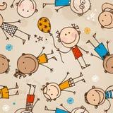 Children seamless illustration Royalty Free Stock Images