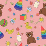 Children seamless pattern Royalty Free Stock Photos