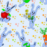 Children seamless pattern with hare Stock Photography