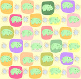 Children seamless pattern with hippopotamus Royalty Free Stock Photography