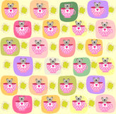 Children seamless pattern with a small mouse Stock Image