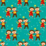 Children seamless pattern Royalty Free Stock Photography
