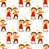 Children seamless pattern Royalty Free Stock Images