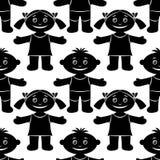 Children, Seamless, Silhouette Royalty Free Stock Photo