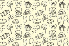 Children seamless texture. Baby theme pattern with Royalty Free Stock Images
