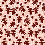 Children, seamless valentine background Royalty Free Stock Images