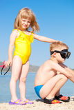 Children at the seaside Royalty Free Stock Images