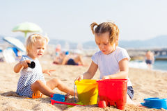 Children at  seaside Royalty Free Stock Photography