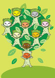 Circle Tree, Cartoon for Baby Children-Diversity Stock Photography