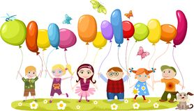 Children set. Vector illustration of cute children set Royalty Free Stock Image
