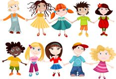 Children set Royalty Free Stock Images