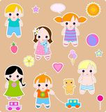 Children set. Beautiful set of children and toys. All images are separated Stock Images