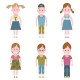 Children set icons Royalty Free Stock Photos