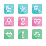 Children. Set of icons. Royalty Free Stock Image