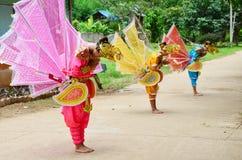Children of Shan them show kinnari dance for traveler Stock Photography