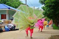 Children of Shan them show kinnari dance for traveler Royalty Free Stock Photography