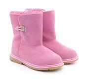 Children Sheepskin boots Royalty Free Stock Photos