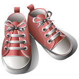 Children shoes vector illustration