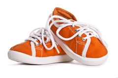 Children shoes isolated on white background. freestyle comfort colorful Stock Photography