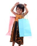 Children shopping Royalty Free Stock Image