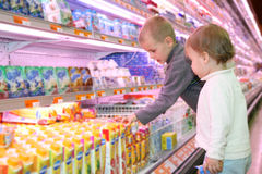 Children shopping