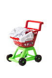 Children shopping cart full of clothing Royalty Free Stock Image