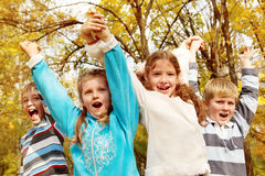 Children shouting Stock Photos