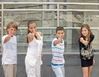 Children show ok. Stock Photo
