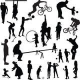 Children silhouette  Stock Images
