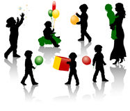 Children silhouette Stock Photos