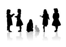 Children silhouettes 9 Stock Photos