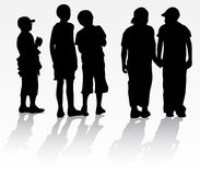 Children silhouettes Royalty Free Stock Images