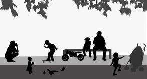 Children silhouettes Stock Photo