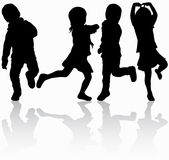 Children silhouettes Royalty Free Stock Photography