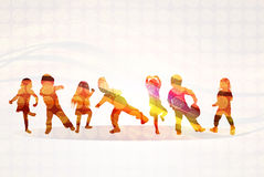 Children silhouettes Royalty Free Stock Image