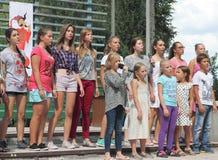 Children sing Royalty Free Stock Image
