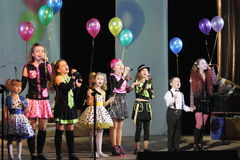 Children the singers. Speech by the art group Soniah on the stage of the Kyiv Palace of children and youth. Yuileyny concert dedicated to the twentieth Stock Image