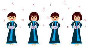 Children singing stock illustration